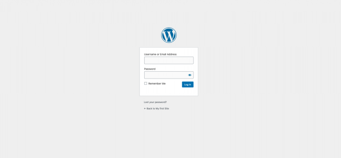 Logging into WP Admin
