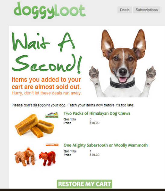 doggy loot email