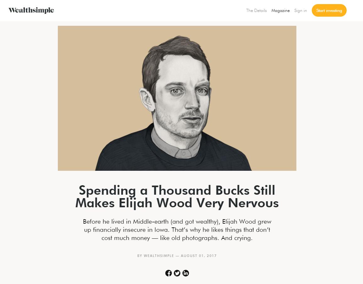 Elija Wood custom image for website