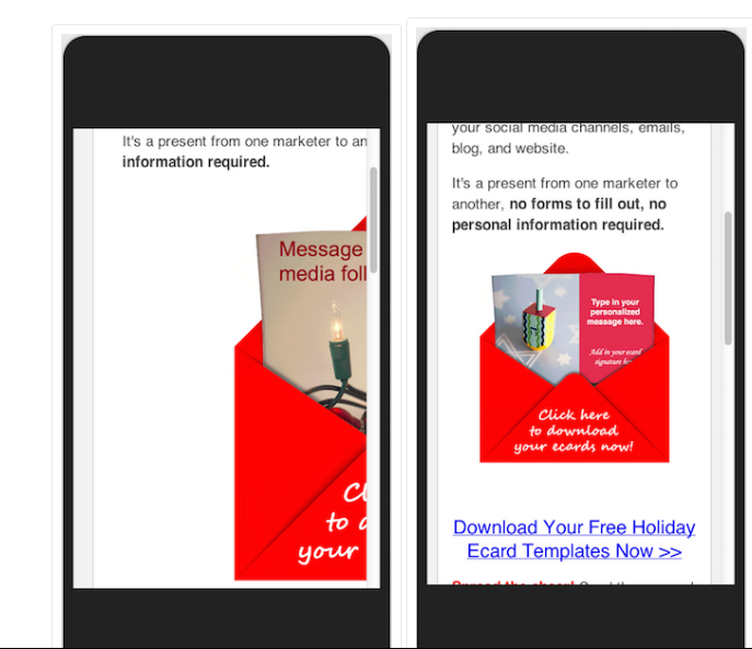 offer optimized for mobile view