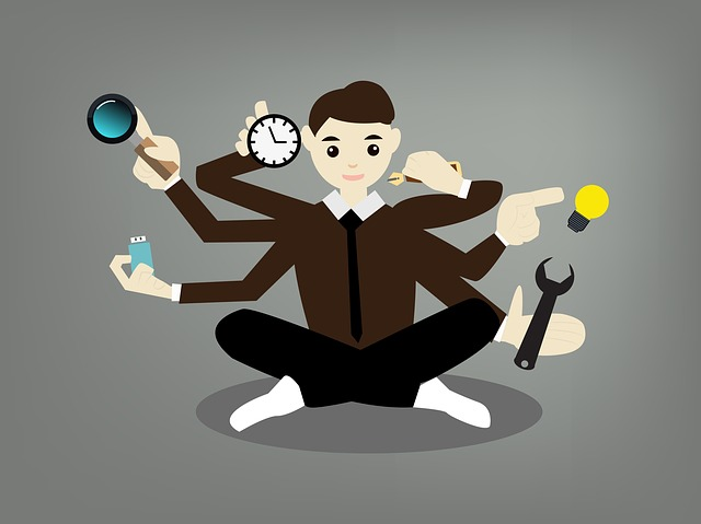 multitasking worker