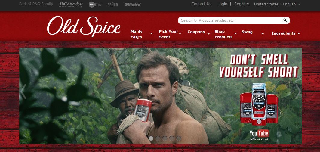 old spice webste