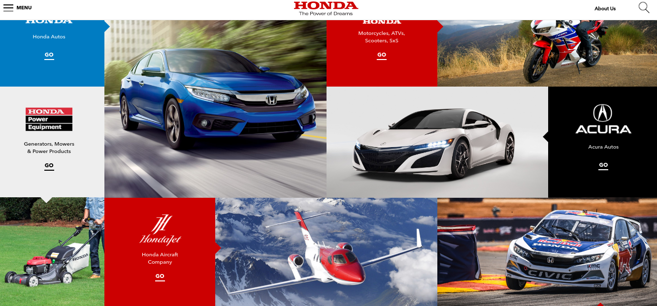 acura website branding